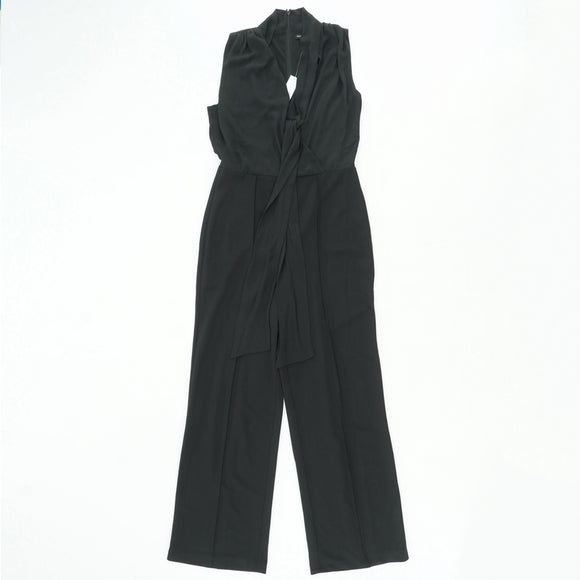 Mock Neck Tie Jumpsuit Size 8