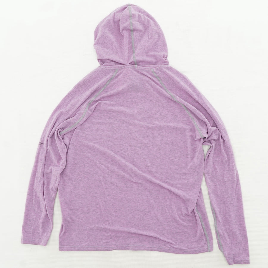 Purple Heather Advanced-Cooling Hoodie Size M