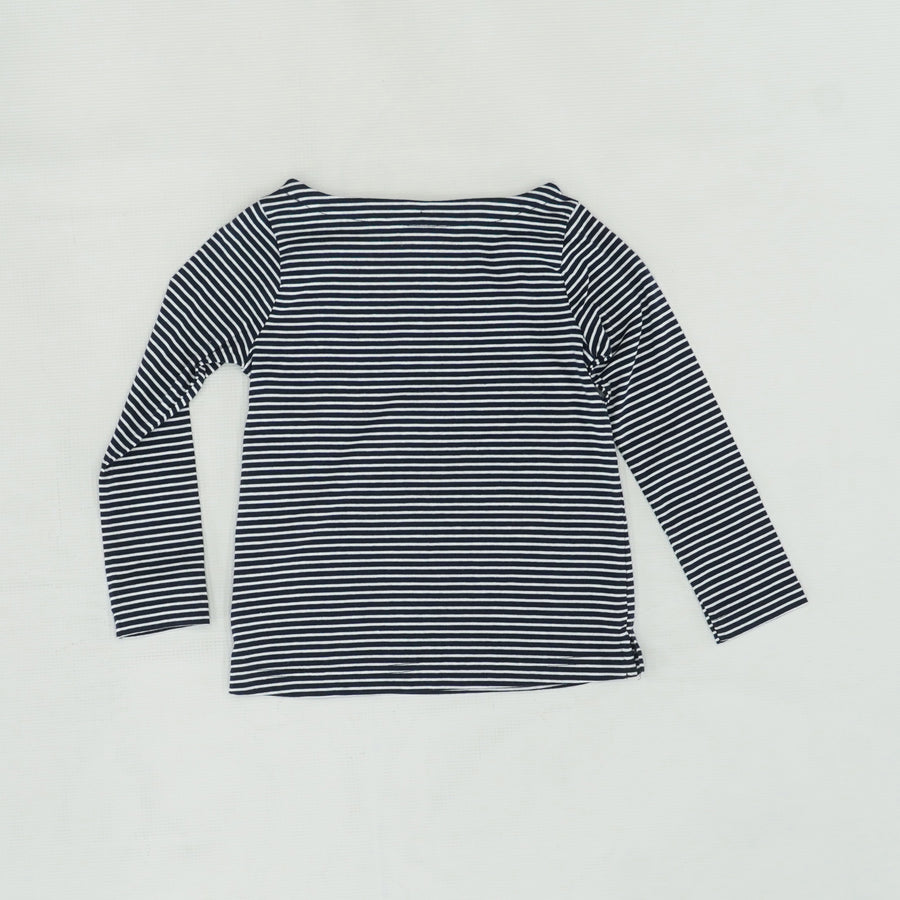 Blue Stripe Long Sleeve Tee Size 4T