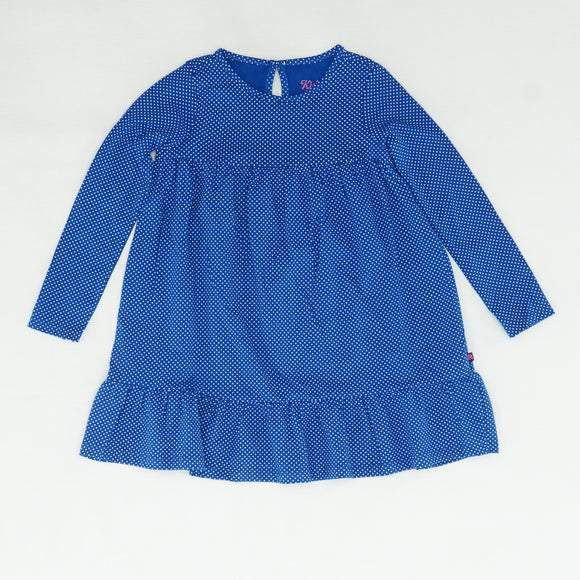 Blue Polka Dot Long Sleeve Dress Size 4