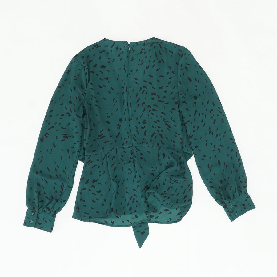 Green Twist Front Top Size S