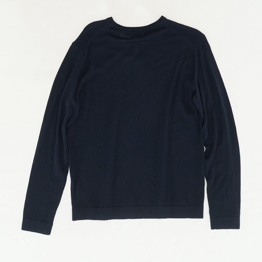 Dressy Refined Crew Neck Sweater Size S