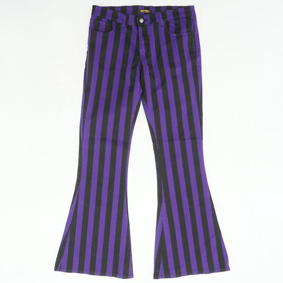 Retro Stripe Bell Bottom Pants Size 34