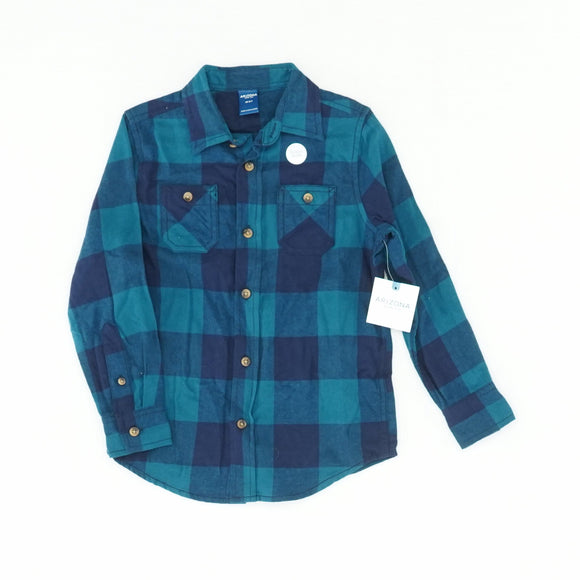 Tahoe Teal Buffalo Plaid Button Down Size XS