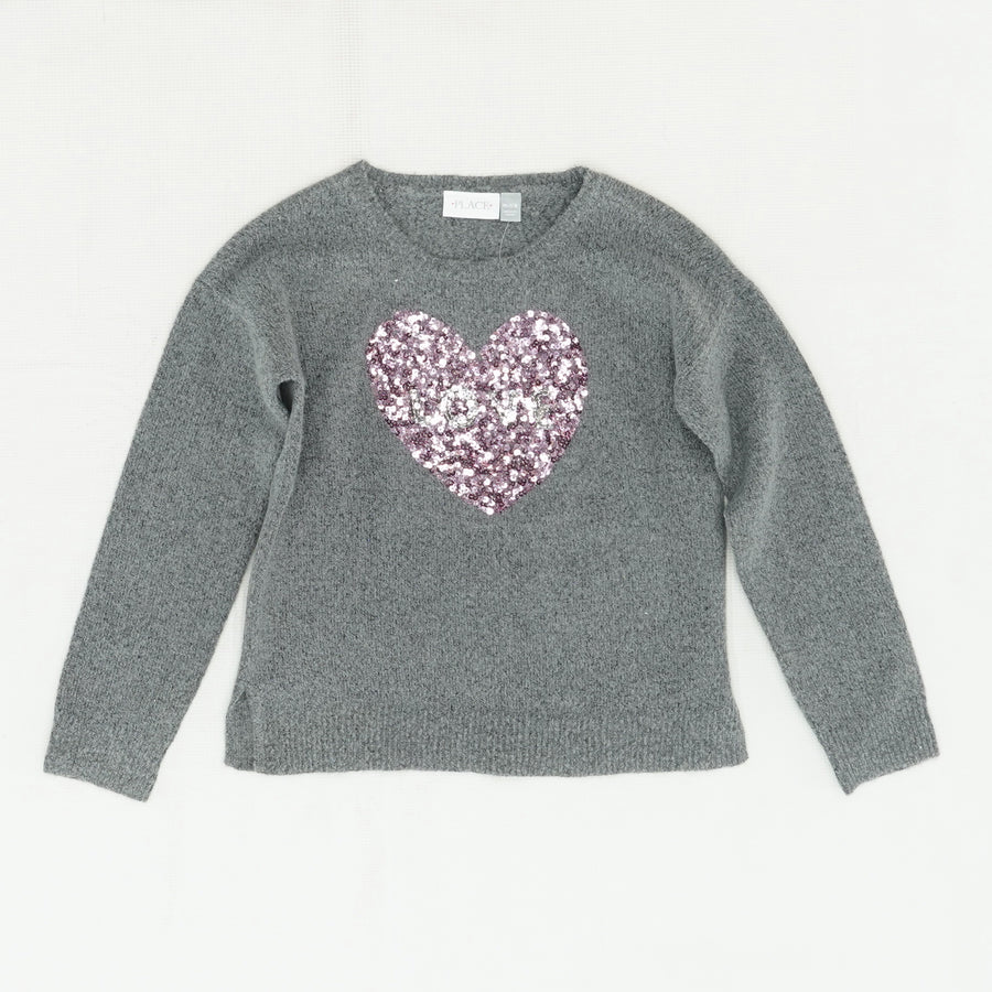 "Gray ""Love"" Long Sleeve Sweater Size M"