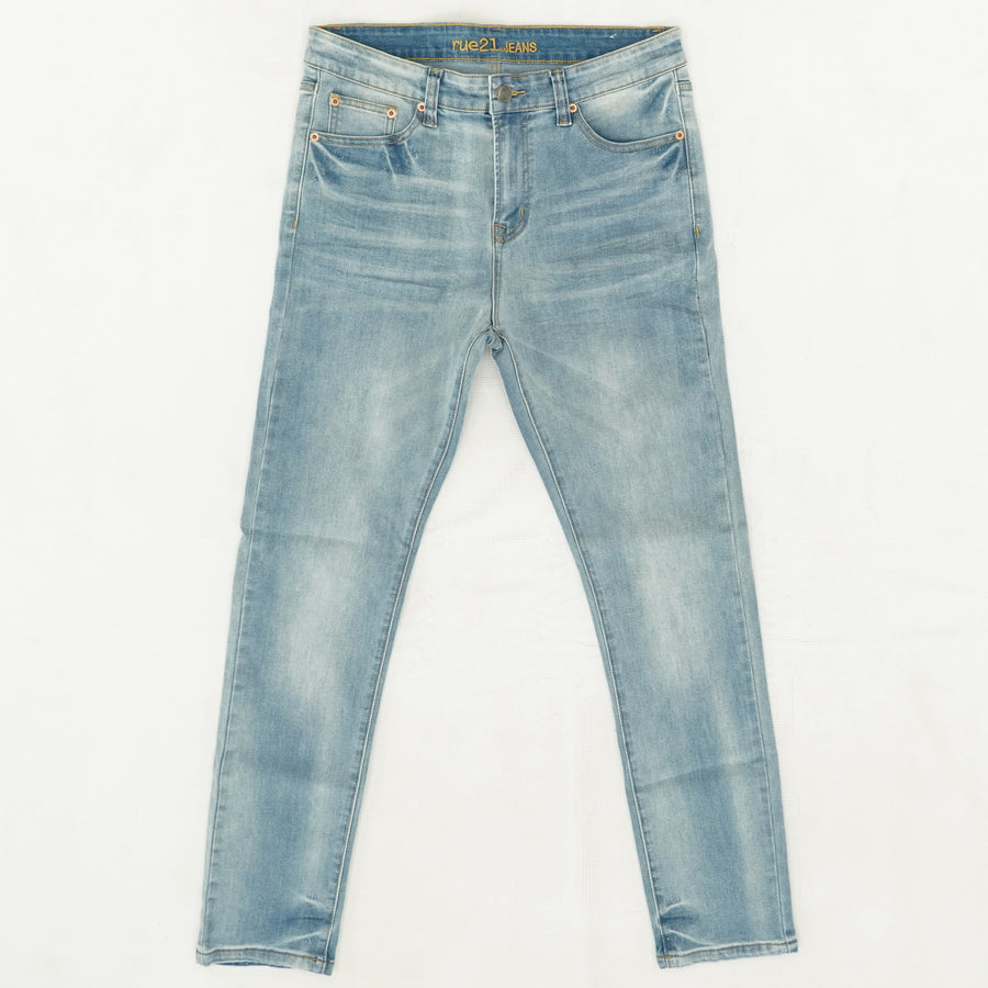 Light Wash Skinny Jeans - Size 34Wx30L