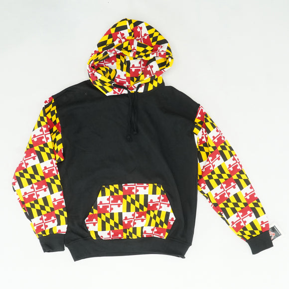 Maryland Flag Pullover Hoodie Size M