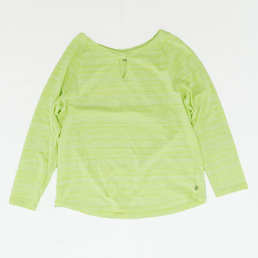 Casual Green Long Sleeve Blouse Size L