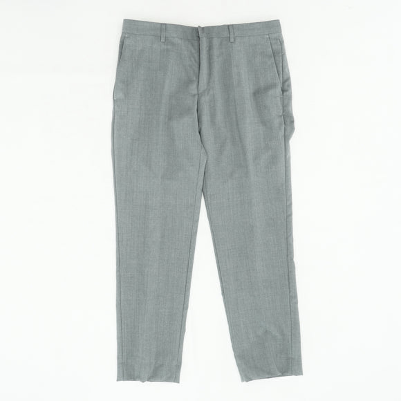 Gray Slim Fit Wool Pant Size 34W 30L