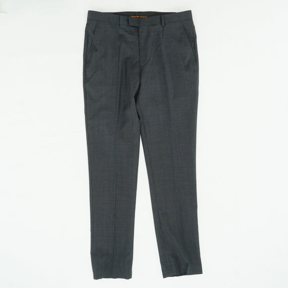Gray Striped Regular Fit Pant Size 36W 30L