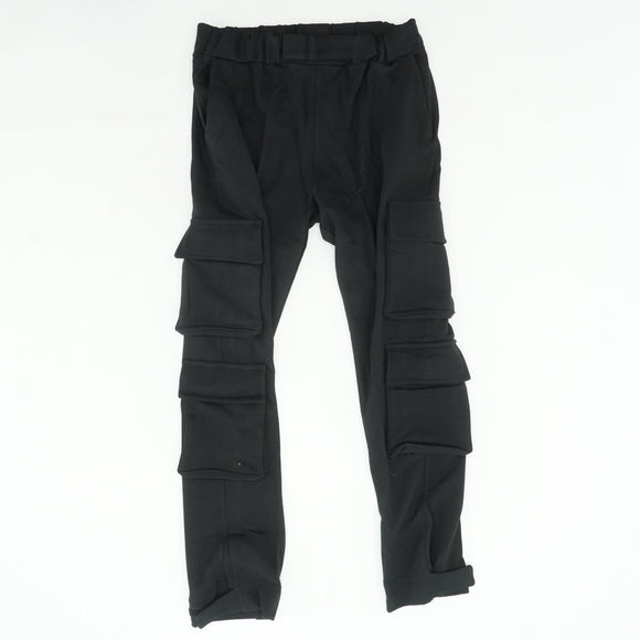 Black Terry Cargo Sweatpants Size L
