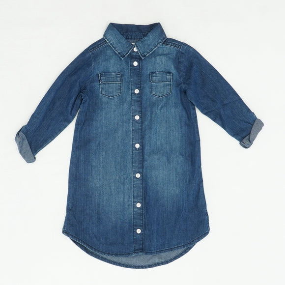 Denim Button Down Dress Size 5T
