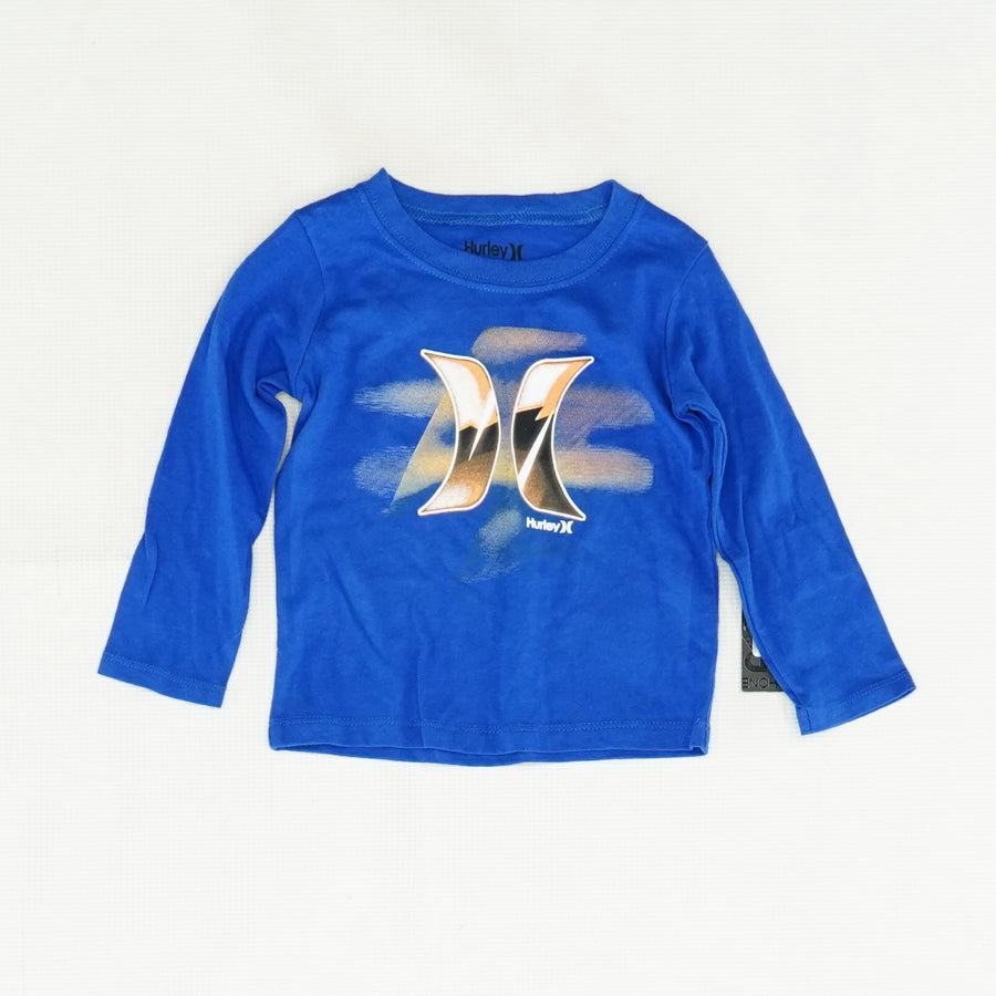 Blue Long Sleeve Graphic Tee Size 18 Months