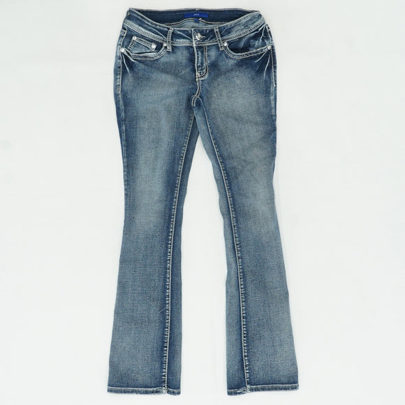 Blue Jeans With Embellished Pockets Size 4
