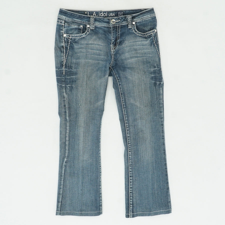 Blue Jeans With Embellished Pockets Size 11