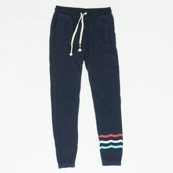 Navy Sherpa Waves Joggers Size S