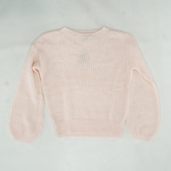 Pink Francesca Ribbed Sweater Size S