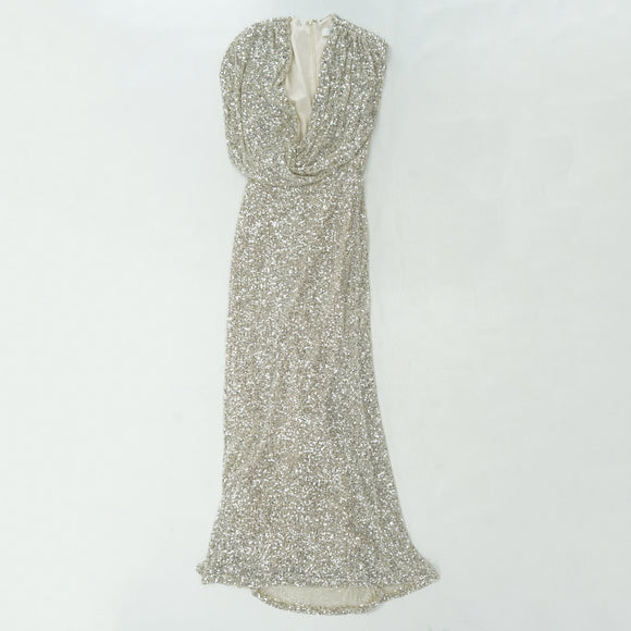 Chloe Silver Sequin Dress Size 8