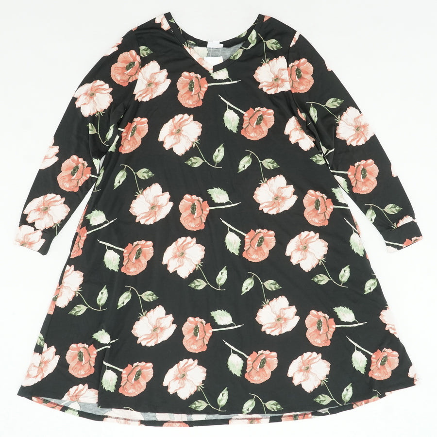 Emily Black Floral Dress Size XL