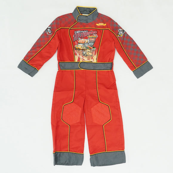 Lightning McQueen Speed Shop One-Piece Costume Size XS