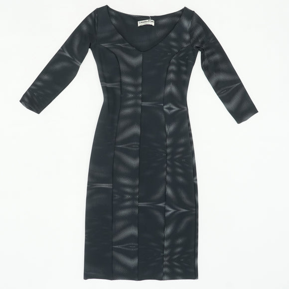 Srethusa 3/4 Sleeve V-Neck Bonded Mesh Cocktail Dress Size 8