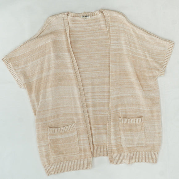 Short Sleeve Knit Cardigan Size S