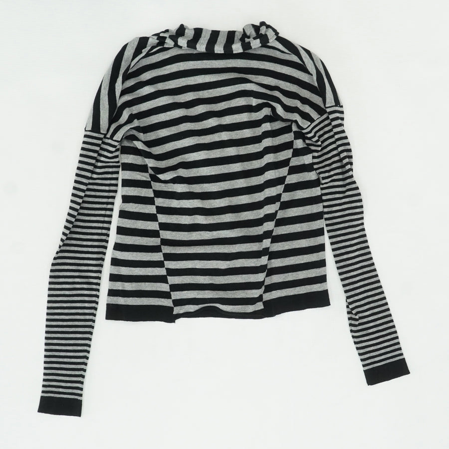 Gray/Black Striped Cardigan Size S