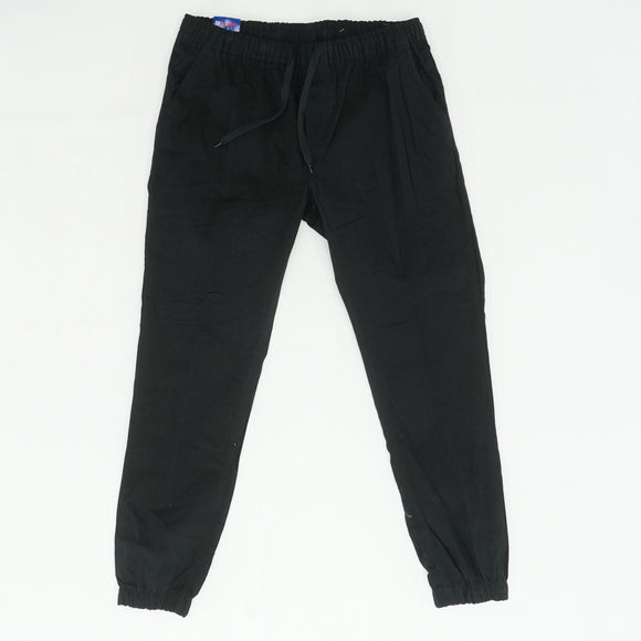 Black Elastic Band Jogger Pants Size L