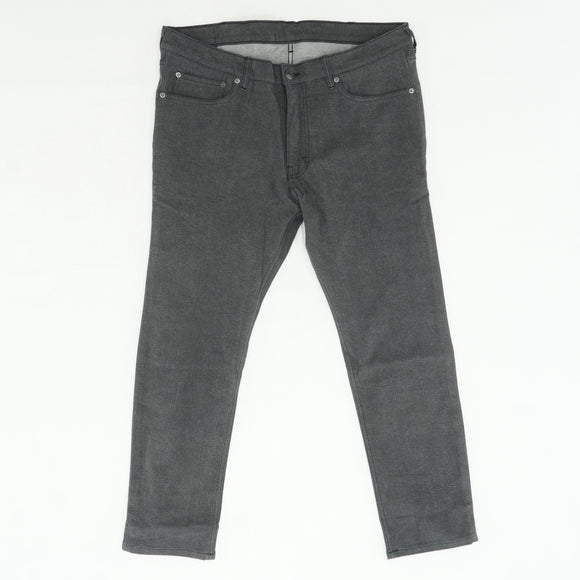 Black Washed Straight Pants Size 36W 27L