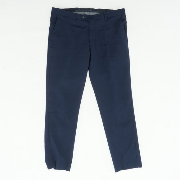 Navy Textured Slim Fit Pants Size 36W 30L