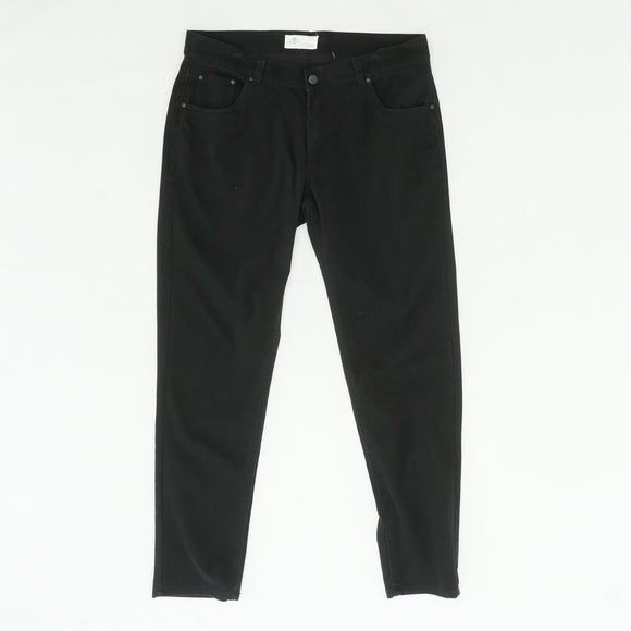 Black Finding Me Stretch Brushed Slim Tapered Pants Size 36W 32L