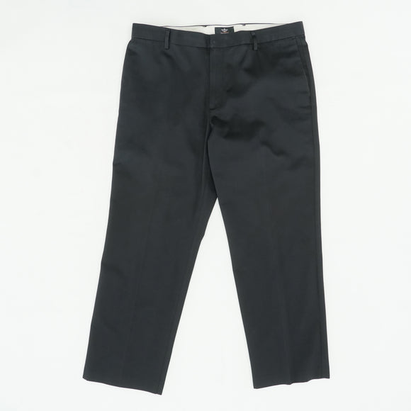 Black Straight Fit Pant Size 38W 30L