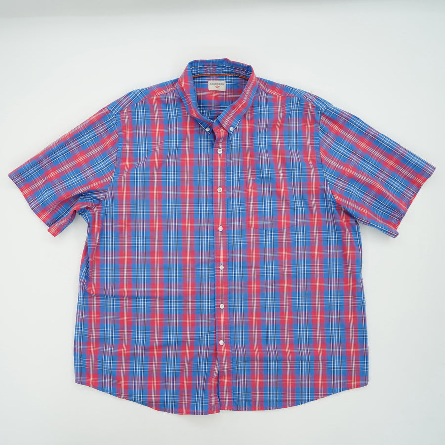 Plaid Short Sleeve Button Down Size XL