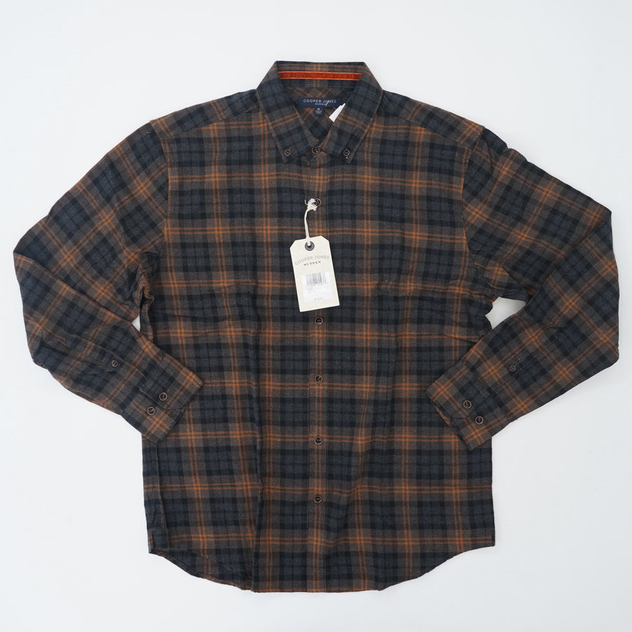 Cafe Button Down Flannel Size M