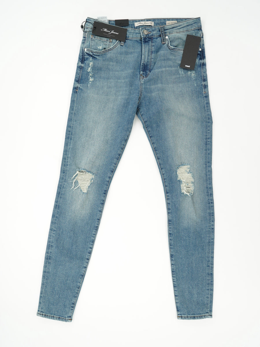 Lucy High-Rise Super Skinny Distressed Size 29