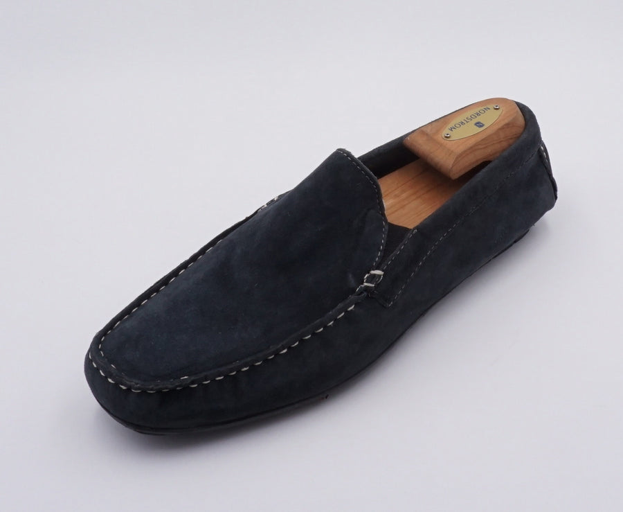 Black Suede Slide On Casual Shoes Size 8.5