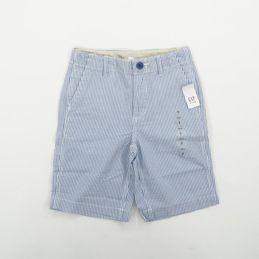 Striped Shorts with Flat Front Size 7