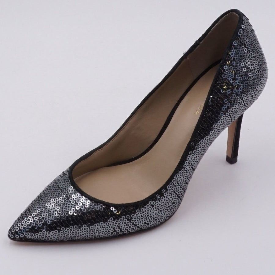 Black Sequin party Heels- Size 5.5