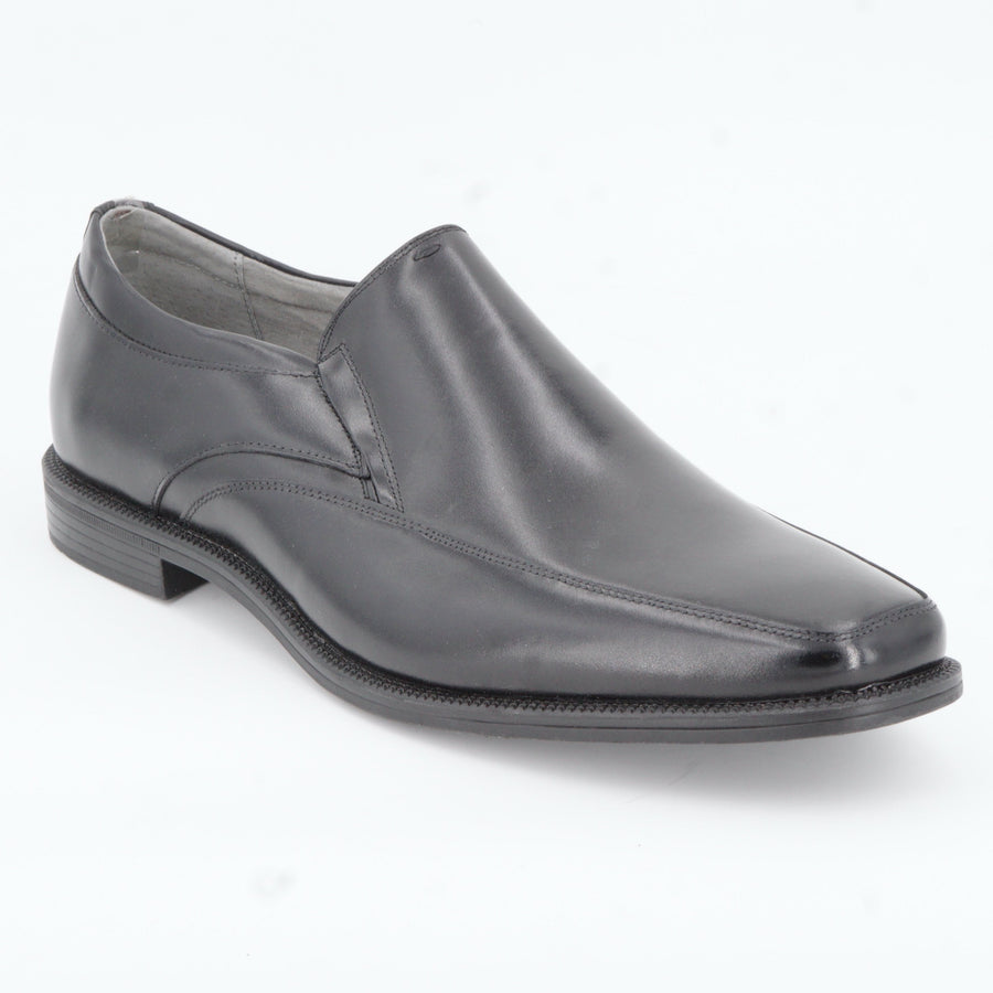 Black Leather Slip On Dress Shoes Size 10.5
