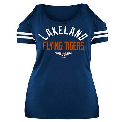 Lakeland Flying Tigers Ladies Flying Tiger Cold Sholder