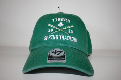 Tigers 2020 Spring Training Axis Clean Up St Pattys Day Cap '47 Brand