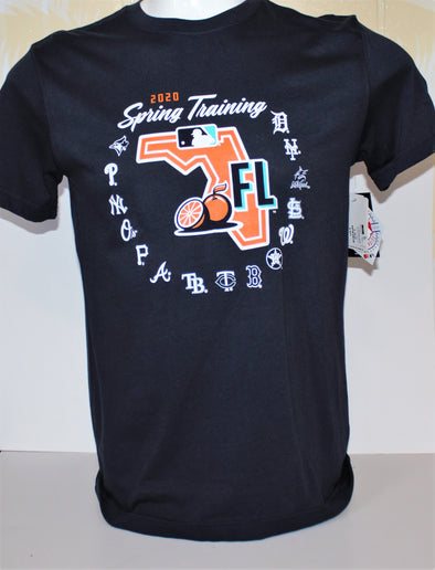 Tigers  2020 Spring Training  Map T-Shirt
