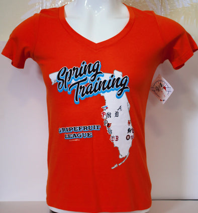 Detroit 2019 Spring Training Ladies Map T-Shirt