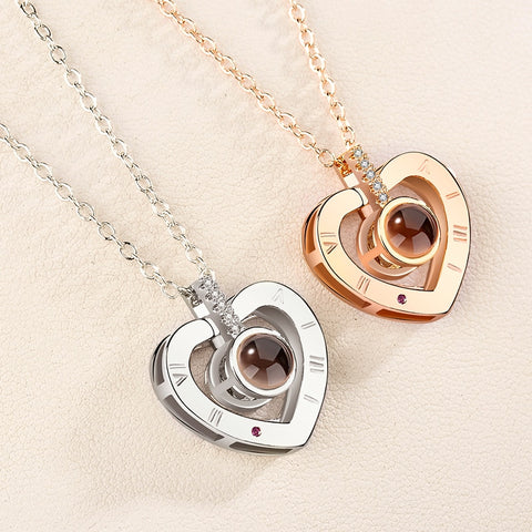 "Heart Necklace [ 100 Languages ""I LOVE YOU"" ] - The Super Product - Most powerful products ever"