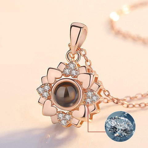 "Abstract shape Necklace [ 100 Languages ""I LOVE YOU"" ] - The Super Product - Most powerful products ever"