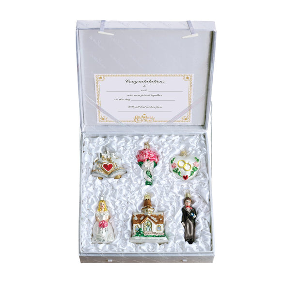 6 Piece Bride's Ornament Collection