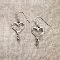 Jim Shore Pewter Heart Earrings