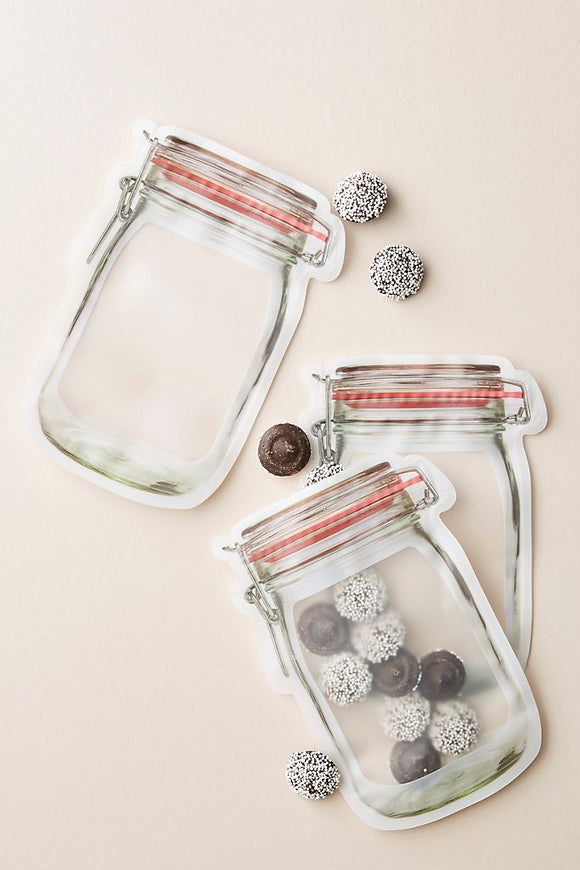 Mason Jar Zippered Bag - Small Set of 4
