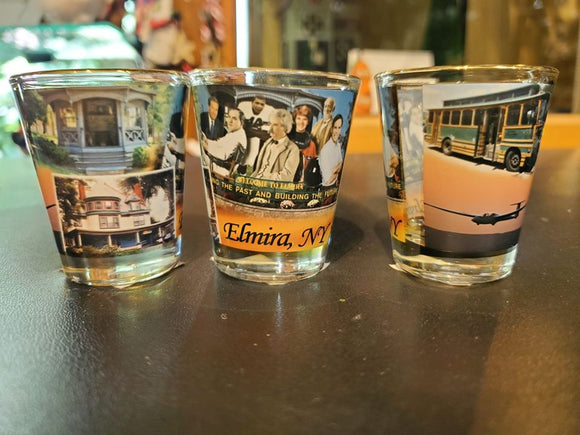 Shot Glass of Elmira Area Attractions