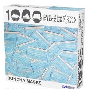 Buncha Masks 1000 Piece Puzzle
